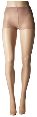 Hue So Silky Sheer Control Top Pantyhose (3-Pack) (Black) Control Top Hose