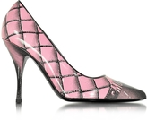Moschino Pink Printed Leather Pump