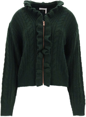 See by Chloe Cardigan With Zip And Ruffles