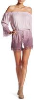 Young Fabulous & Broke Sloan Crochet Long Sleeves Romper