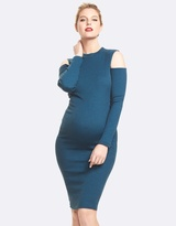 Soon Casima High Neck Cold Shoulder Dress