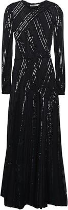 Roberto Cavalli Metallic-trimmed Sequin-embellished Crochet-knit Maxi Dress