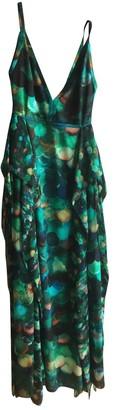 Elie Saab Green Silk Dresses