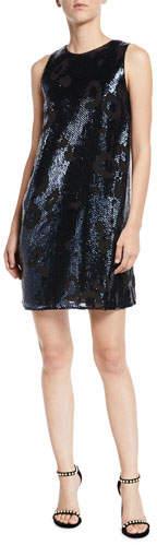 Kate Spade Leopard Sequin Shift Dress