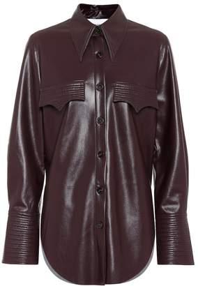 Nanushka Elpi faux leather blouse
