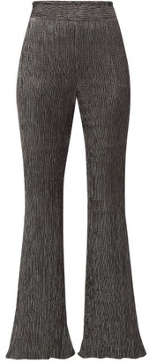 Peter Pilotto Plisse Metallic-jersey Trousers - Black