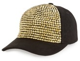 Amici Accessories Women's Crystal Studded Ball Cap - Black