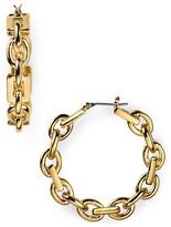 T Tahari Chainlink Hoop Earrings