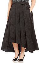 Alex Evenings Plus T-Length Pleated Hi-Low Ball Skirt