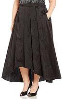 Alex Evenings Plus Tea-Length Pleated Hi-Low Ball Skirt