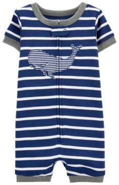 Carter's Toddler Boys Whale Snug Fit Romper Pajama Set