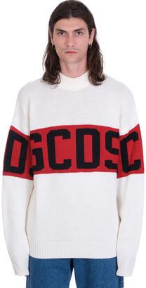 GCDS Knitwear In White Wool