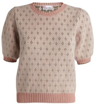 RED Valentino Angora-Blend Jacquard Sweater