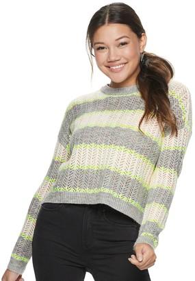 So Juniors' Drop Shoulder Pullover Sweater