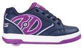 Heelys Girl's Propel Terry Running Shoes, Navy/Grape/Terry Logo