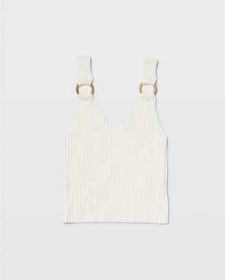 Club Monaco Ribbed Ring Tank