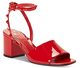 Valentino Women's Rockstud Strap Mid-Heel Sandals