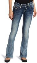 Vigoss Juniors Skinny Boot Rhinestone Flap Jean