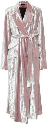 Ann Demeulemeester Crushed velvet coat