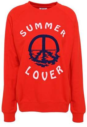 Zoe Karssen Summer Lover Flocked French Cotton-blend Terry Sweatshirt