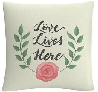 Lulu Winston Porter Love Lives Here Throw Pillow Winston Porter