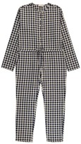 Babe & Tess Gingham Jumpsuit with Tie Waist