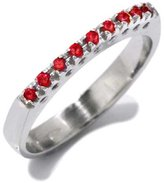 Tatitoto Wedding Women's Ring in 18k Gold with Red Synthetic, Size 7, 3.4 Grams