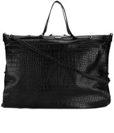 Saint Laurent crocodile embossed oversized tote - men - Leather - One Size