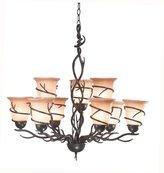 Kenroy Home 90909Brz Twigs 9 Light Chandelier, Bronze Finish