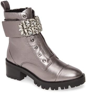 Karl Lagerfeld Paris Pippa Crystal Embellished Platform Boot