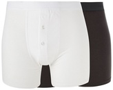 J By Jasper Conran Big And Tall Designer Pack Of Two White And Dark Grey Boxers