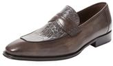 Mezlan Apron-Toe Keeper Loafer