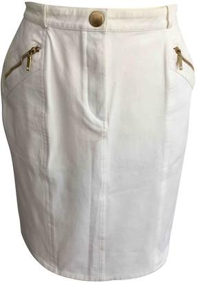 Celine White Cotton - elasthane Skirt for Women Vintage