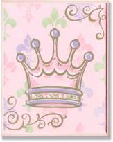 Stupell Industries The Kids Room Crown with Fleur De Lis on Rectangle Wall Plaque