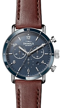 Shinola Canfield Brown Strap Sport Chronograph, 40mm