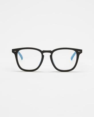 Le Specs Black Blue Light Lenses - No Biggie Blue Light Glasses - Size One Size at The Iconic