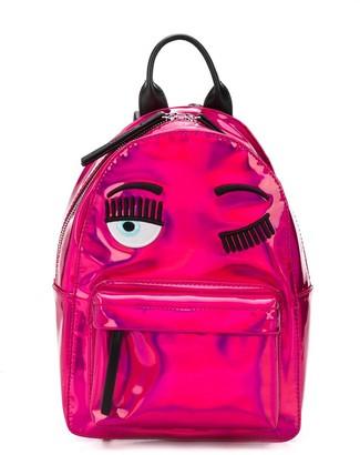 Chiara Ferragni Flirting metallic faux-leather backpack