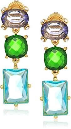 Badgley Mischka Womens Triple Drop Stone Multi Drop Earrings