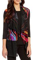 Calessa Multi-Color Lace-Back Open Front Vest