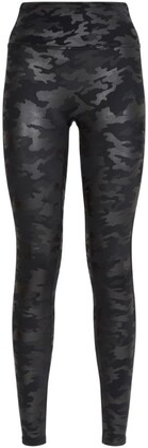 Spanx Camo Faux Leather Leggings