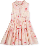Kate Spade Sleeveless Desert Rose Voile Shirtdress, Multicolor, Size 7-14