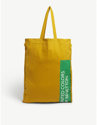 Benetton Large canvas tote bag