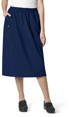 WONDERWINK Women's Plus-Size Wonderwork Plus Pull-on Cargo Scrub Skirt