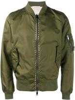 Valentino Rockstud bomber jacket - men - Cotton/Linen/Flax/Polyamide/Polyester - 48