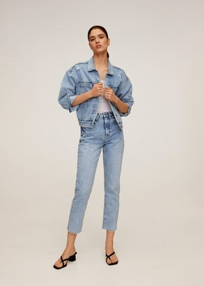 MANGO Straight crop jeans light blue - 1 - Women