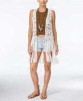 Jessica Simpson Macramé Fringe Vest