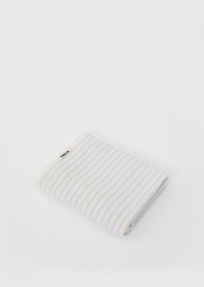 Tekla Terry Bath Towel Baby Blue Stripes