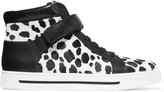 Marc by Marc Jacobs Leather and printed calf hair sneakers