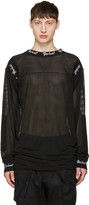 Kokon To Zai Black Embroidered Mesh Pullover