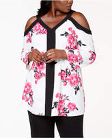 Alfani Plus Size Cold-Shoulder Tunic, Created for Macy's